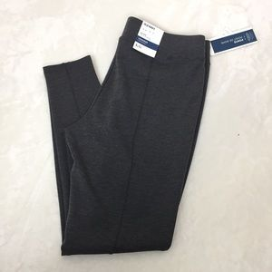 Old Navy Ponte Leggings Mid Rise Gray Large NWT